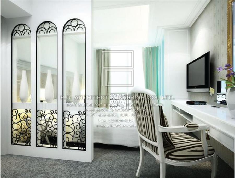 แต่งคอนโดสไตล์คลาสสิค condo The Link : รับออกแบบตกแต่งภายใน P.O. Architect & Interior Co., Ltd.