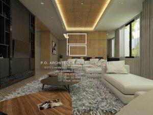 ตกแต่งบ้าน สไตล์ contemporary : P.O. Architect & Interior Co., Ltd.